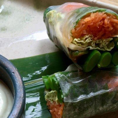 spring rolls, vegetarische catering